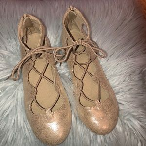 Old Navy lace up ballet flats